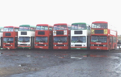 [buses at Masstransit depot on Houghton Road,  North Anston]